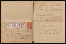 FRANCE LETTERCARD 1928 POSTAGE DUE in BELGIUM