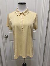 Yellow Chico's Zenergy Golf Shirt SZ 2 Snap Closure