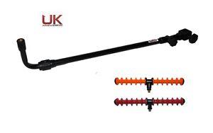 UKAS 60-95cm Ext Adj Tilt Fishing Feeder-Method Arm + 2 x Quiver Rest Red/Orange