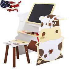Kids Child Mutifunctional Drawing Board Easel Creative Desk Stool Art Studio Set