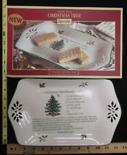 Spode Portmeirion Christmas Tree Pierced Recipe Tray Dish Shortbread Cookies