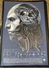 GABZ Prometheus poster BLUE VARIANT silkscreen Alien movie Mondo Ridley Scott #d