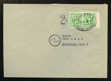 BIZONE Nr.3 PAAR + GEBÜHR BEZAHLT BRIEF BAMBERG 12.11.1945 !!! (953018)