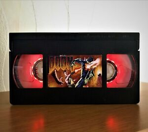 Doom Game Retro VHS Night Light, Desk Lamp, PlayStation, Kids, Gift, TV, Horror