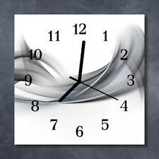 Glass Wall Clock Kitchen Clocks 30x30 cm silent Abstract Grey