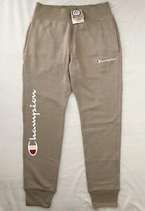 Champion Mens Reverse Weave Jogger Pants Size L Khaki RRP$99.95