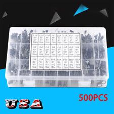 500Pcs 16V-50V 0.1uF~22000uF 105°C Radial Lead Electrolytic Capacitor Kit Set US