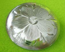 "Vogt Vintage Unused 2"" Solid Sterling Silver Concho~Bridle~B.Collar~Sa ddle~Nr"