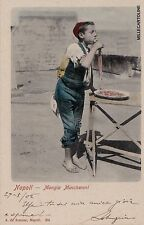 "# NAPOLI: ""mangiamaccheroni"" - EDIZ. A. DE SIMONE - 1902"