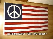 Fahne Flagge USA Peace - 90 x 150 cm