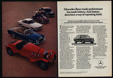1982 MERCEDES-BENZ 300SD - Grand 600 - 300SL - 280SL - 280SE Car 2 Pg VINTAGE AD