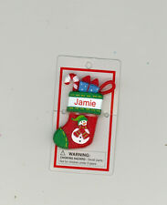 Itsy Bitsy Stocking Ornament ~ JAMIE ~ Snowman ~ Stocking Stuffer ~ New ~