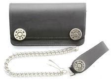 "44 MAGNUM LEATHER 6"" WALLET WITH CHAIN BIKER WALET"
