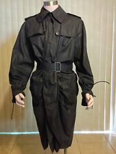 JEAN PAUL GAULTIER RUCHED DOUBLE BREASTED TRENCH COAT BLACK COLOR IT42 US 8  M