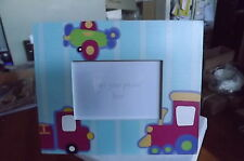 CHILDRENS TRAIN/PLANE/FIRE ENGINE  PHOTO/PICTURE FRAME NEW IN BOX
