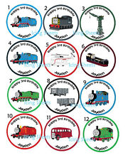 Thomas the Train Edible  cookie toppers cupcake tops party birthday