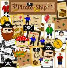 Nave Pirata Gioco di ruolo RESOURCE su CD-KS1 eyfs SEN-PIRATI childminder, insegnante