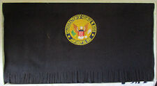 OFFICIAL GEORGE W BUSH 2001 INAUGURATION PENDLETON BLACK WOOL SCARF - NWT