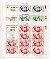 37483) Malta 1973 MNH Europa 3v Ms