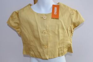 Gymboree Easter Girl's Yellow Dress Jacket Size M 7-8  NWT NEW bolero