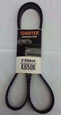 Serpentine Belt-Automotive V-Ribbed Belt (Standard) Gates Charter K6506
