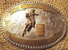 1970 AWESOME ~SSS~ Hand Made U.R.A. Barrel Racing Cowgirl BELT BUCKLE MAKE OFFER