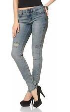 J2901 Arizona Damen Jeans Slim Fit washed Vintage (34, Grau)