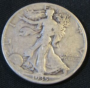 1935-D 50C Walking Liberty Half Dollar AN10