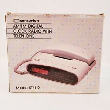 Vintage Centurion AM/FM Digital Alarm Clock Radio With Telephone Model ET160