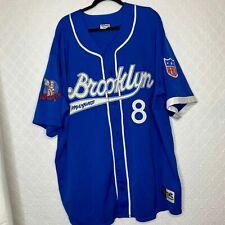 Vtg Throwback Brooklyn Royal Giants Negro League Baseball NLBM Sewn 8 Jersey 4XL