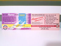 Set of 4x Keller Motor Service Reminder Cards! Vintage Advertisement Cards!