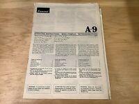 SANSUI A-9 Integrated Amplifier Service Manual - ORIGINAL