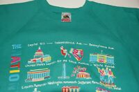 VTG 90s Washington D.C. Sweatshirt Famous Monuments Made in USA 50/50 Cotton