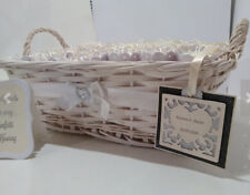 Wedding Presentation basket + guest sign decorated in coordinating colours
