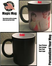 Personalised Magic Color Change Mug,Custom Mug, Any Image Photo Text Design