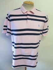 "Genuine vintage RALPH LAUREN Homme À Rayures Polo Shirt Taille L 42-44"" Euro 52-54"