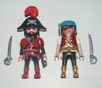 Playmobil Figurine Personnage Lot Marin + Capitaine des Pirates NEUF
