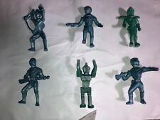 """SPACE MEN & WOMEN 4""""  RARE COLOR 6 FIGURES Archer Ajax EXCELLENT + SPACE HELMETS"""