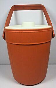 Vintage Rubbermaid Ice Bucket Orange/White