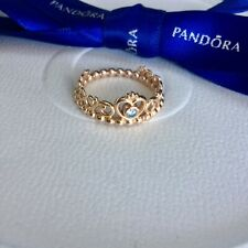 Authentic Genuine Pandora Rose Gold Princess Tiara Crown Ring Size 56 #180880CZ