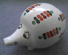 More details for arthur wood pottery hedgehog piggy bank moneybox number 5290 t vintage 1970s