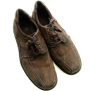 Clarks Men's Shoes Size 13 M Brown, Suede Upper, Lace Up, Rubber Soles