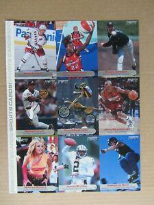 2001 Sports Illustrated Kids Uncut Card Sheet Travis Pastrana BRITNEY SPEARS