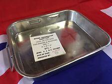 "NEW British Army Small Heavy Duty Steel 11""x9""x2"" Roasting dish tray SIZE 1"