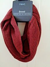 NEXT Mens Snood Scarf Rust Brown Textured Knit BNWT