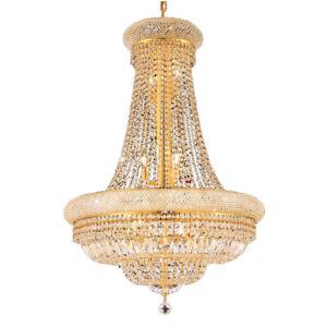 Empire Gold Crystal Chandelier Light Modern Chrome Crystal Chandeliers Light
