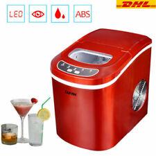 15kg Icemaker Eiswürfelmaschine Eiswürfelbereiter Eiswürfel Zubereiter Rot DHL
