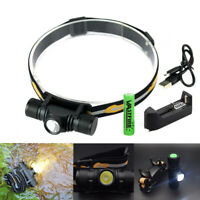 6 Modes Stepless Dimming XM-L2 USB Rechargerable Headlamp Hunting Camping Torch