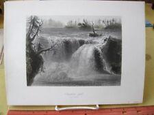 Vintage Print,CHAUDIERE FALLS,W.H.Bartlett,c1840,Canadian scenery