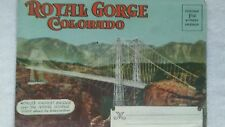 early social media souvenier folder post card Royal Gorge Colorado